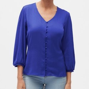 Banana Republic Factory Covered-Button Blouse - XS